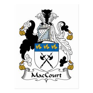 Escudo de la familia de MacCourt Postales