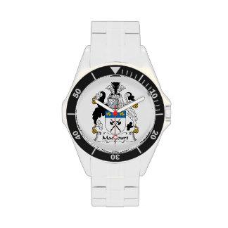 Escudo de la familia de MacCourt Reloj