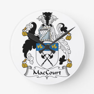 Escudo de la familia de MacCourt Reloj Redondo Mediano