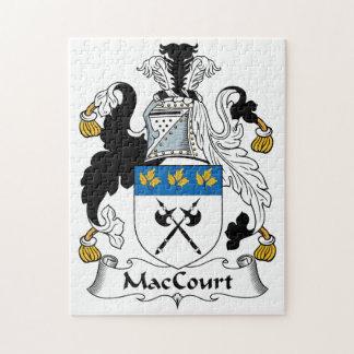 Escudo de la familia de MacCourt Rompecabezas