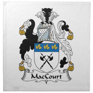 Escudo de la familia de MacCourt Servilletas