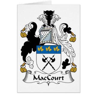 Escudo de la familia de MacCourt Tarjeta De Felicitación