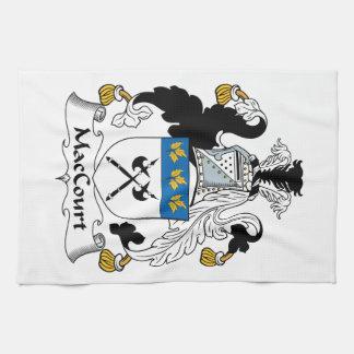 Escudo de la familia de MacCourt Toalla De Mano