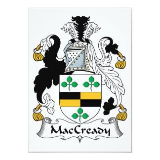 """Escudo de la familia de MacCready Invitación 5"""" X 7"""""""
