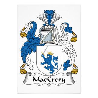 Escudo de la familia de MacCrery Comunicados Personales
