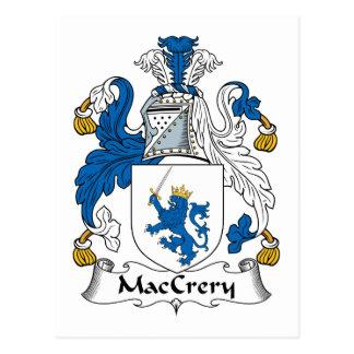 Escudo de la familia de MacCrery Postal