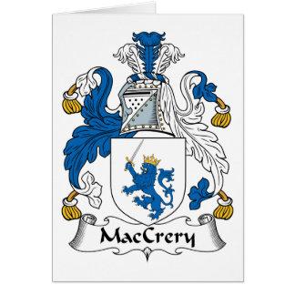 Escudo de la familia de MacCrery Tarjeta