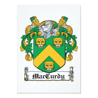 """Escudo de la familia de MacCurdy Invitación 5"""" X 7"""""""