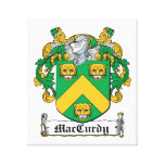 Escudo de la familia de MacCurdy Lona Estirada Galerias