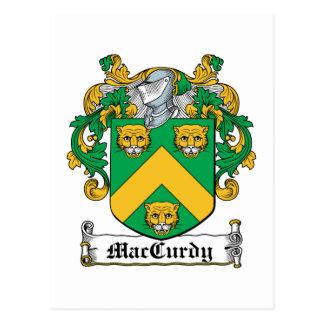 Escudo de la familia de MacCurdy Postal