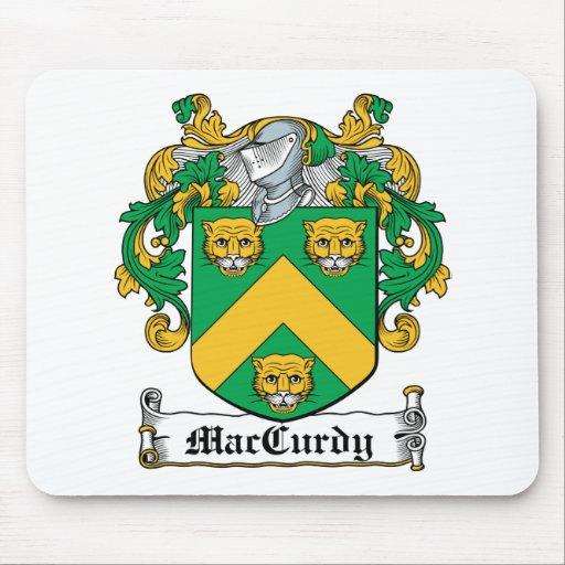 Escudo de la familia de MacCurdy Tapete De Ratones