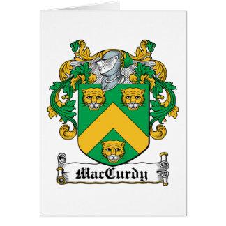 Escudo de la familia de MacCurdy Tarjeta De Felicitación
