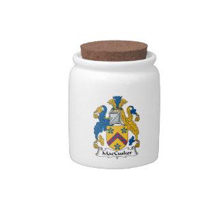 Escudo de la familia de MacCusker Tarro De Cerámica Para Dulces