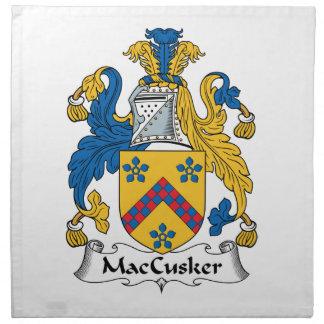 Escudo de la familia de MacCusker Servilleta