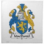 Escudo de la familia de MacDaniel Servilleta