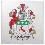 Escudo de la familia de MacDavitt Servilletas Imprimidas