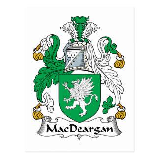 Escudo de la familia de MacDeargan Tarjeta Postal