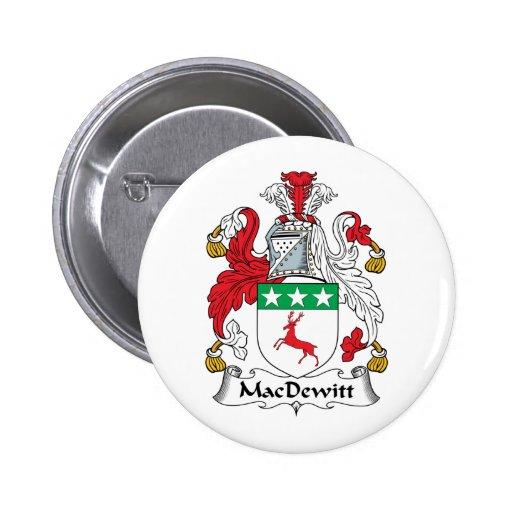 Escudo de la familia de MacDewitt Pins