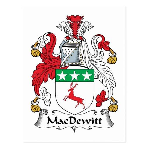Escudo de la familia de MacDewitt Postal