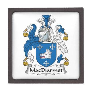 Escudo de la familia de MacDiarmot Caja De Regalo De Calidad