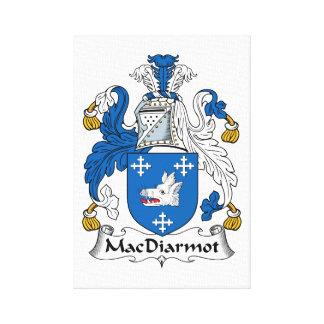 Escudo de la familia de MacDiarmot Lona Estirada Galerías