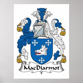 Escudo de la familia de MacDiarmot Poster
