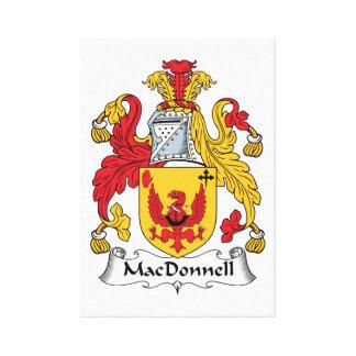 Escudo de la familia de MacDonnell Impresiones En Lienzo Estiradas
