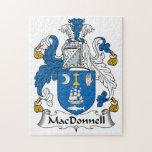 Escudo de la familia de MacDonnell Puzzle Con Fotos