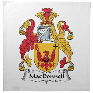 Escudo de la familia de MacDonnell Servilletas