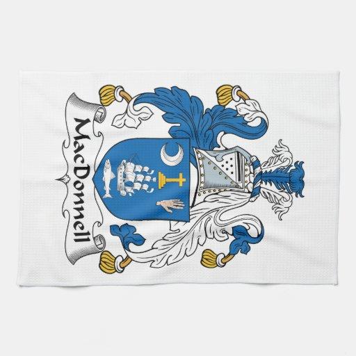 Escudo de la familia de MacDonnell Toalla De Mano