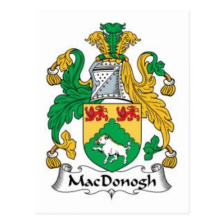 Escudo de la familia de MacDonogh Tarjeta Postal