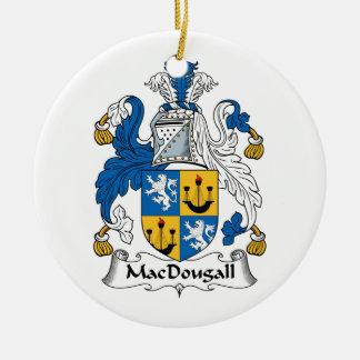 Escudo de la familia de MacDougall Adorno Navideño Redondo De Cerámica