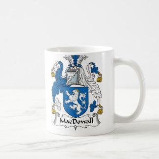 Escudo de la familia de MacDowall Taza Básica Blanca