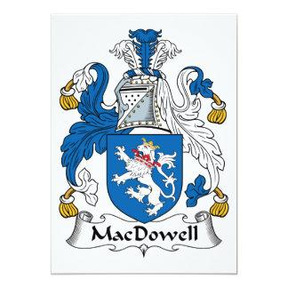 """Escudo de la familia de MacDowell Invitación 5"""" X 7"""""""