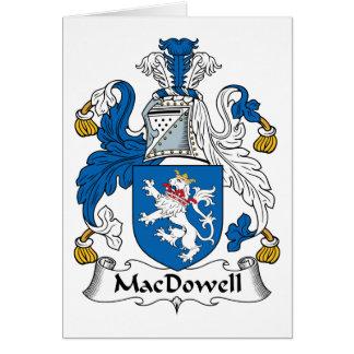 Escudo de la familia de MacDowell Tarjeta De Felicitación