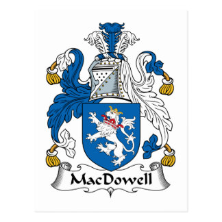 Escudo de la familia de MacDowell Tarjeta Postal
