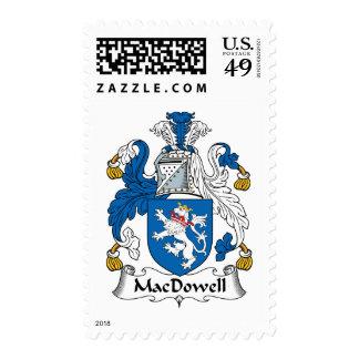 Escudo de la familia de MacDowell Timbres Postales