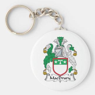 Escudo de la familia de MacDrury Llavero Redondo Tipo Pin