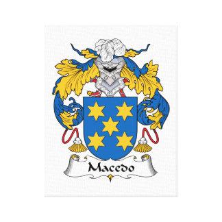 Escudo de la familia de Macedo Impresión De Lienzo