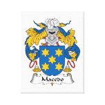 Escudo de la familia de Macedo Impresión En Lienzo Estirada
