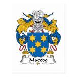 Escudo de la familia de Macedo Postal