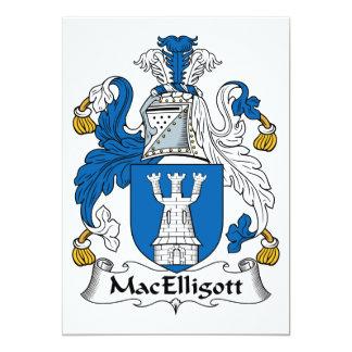 """Escudo de la familia de MacElligott Invitación 5"""" X 7"""""""