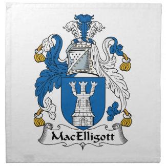 Escudo de la familia de MacElligott Servilleta Imprimida