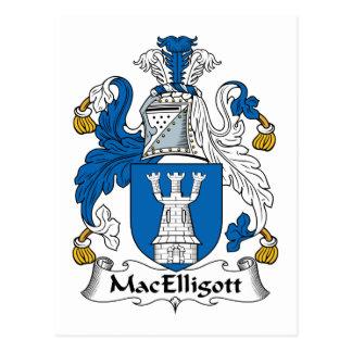 Escudo de la familia de MacElligott Tarjetas Postales