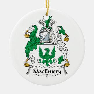 Escudo de la familia de MacEniery Adorno Redondo De Cerámica