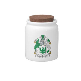Escudo de la familia de MacEniery Platos Para Caramelos