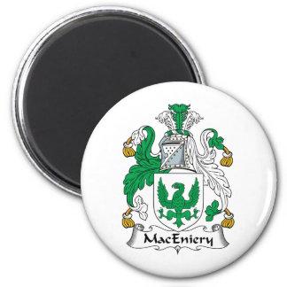 Escudo de la familia de MacEniery Imán Redondo 5 Cm