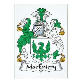 """Escudo de la familia de MacEniery Invitación 5"""" X 7"""""""
