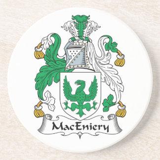 Escudo de la familia de MacEniery Posavasos Cerveza