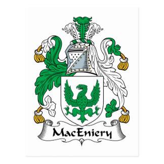 Escudo de la familia de MacEniery Postales